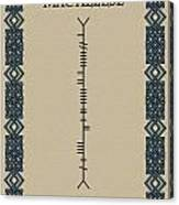Macaleese Written In Ogham Canvas Print