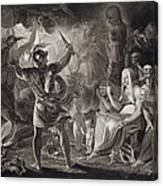 Macbeth, The Three Witches And Hecate Canvas Print
