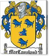 Maccausland Coat Of Arms Irish Canvas Print