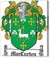 Maccurten Coat Of Arms Irish Canvas Print