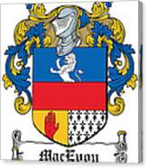 Macevoy Coat Of Arms Meath Ireland Canvas Print