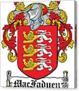 Macfadyen Coat Of Arms I Irish Canvas Print