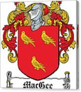 Macgee Coat Of Arms I Irish Canvas Print