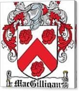 Macgilligan Coat Of Arms Irish Canvas Print