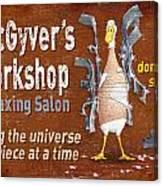 Macgyvers Workshop Canvas Print
