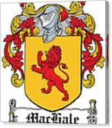 Machale Coat Of Arms Irish Canvas Print