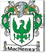 Machenry Coat Of Arms Ulster Ireland Canvas Print