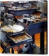 Machine Shop With Punch Press Canvas Print