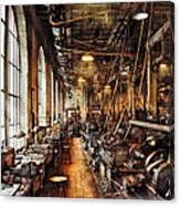 Machinist - Machine Shop Circa 1900's Canvas Print
