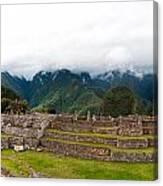 Machu Picchu Main Square And The Group Of The Three Doorways Canvas Print