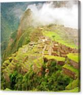 Machu Picchu Textured 2 Canvas Print
