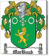 Machugh Coat Of Arms Irish Canvas Print