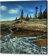 Mackenzie Point Outcrop Canvas Print