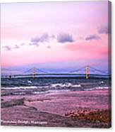 Mackinac Bridge At Sunset  Canvas Print