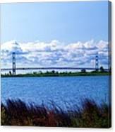 Mackinac Bridge Landscaped Canvas Print