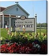 Mackinac Island Airport Canvas Print