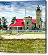 Mackinac Point Lighthouse Michigan Canvas Print