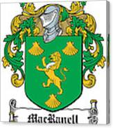 Macranell Coat Of Arms Leitrim Ireland Canvas Print