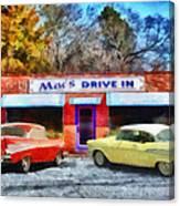 Mac's Drive In Canvas Print