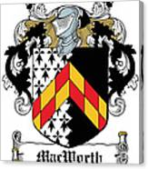 Macworth Coat Of Arms Irish Canvas Print