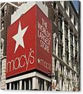 Macy's Department Store Canvas Print