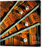Mad For Mahjong Canvas Print