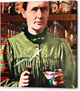 Madame Marie Curie Shaking Up A Killer Martini At The Swank Hipster Club 88 20140625 With Text Canvas Print