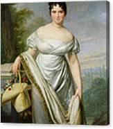 Madame Tallien 1773-1835 Oil On Canvas Canvas Print
