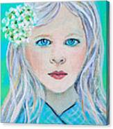 Madelyn Little Angel Of Clear Vision Canvas Print