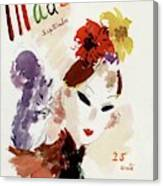 Mademoiselle Cover Featuring A Woman Canvas Print