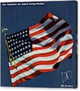 Mademoiselle Cover Featuring The U.s. Flag Canvas Print