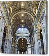 Maderno's Nave Ceiling Canvas Print