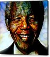 Madiba Father Of Peace And Forgiveness Canvas Print