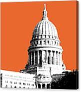 Madison Capital Building - Coral Canvas Print