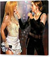 Madonna And Britney Spears  Canvas Print