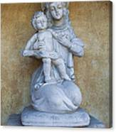 Madonna And Child Carmel Mission Monterey California Canvas Print