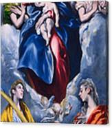 Madonna And Child With Saint Martina And Saint Agnes Canvas Print