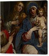 Madonna And Child With Saints John The Baptist With Mary Magdalene And Anne Canvas Print