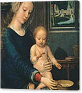 Madonna And Child With The Milk Soup Canvas Print