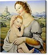 Madonna Of The Fields Canvas Print