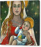 Madonna With Baby Jesus Canvas Print