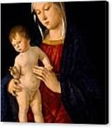 Madonna With The Child Blessing Canvas Print