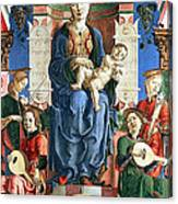 Madonna With The Child Enthroned  Canvas Print