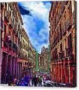 Madrid Life Canvas Print