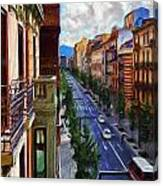 Madrid Morning Canvas Print
