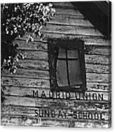 Madrid Union Sunday School Ghost Town Madrid New Mexico 1968-2008 Canvas Print