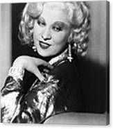 Mae West, Ca. 1935 Canvas Print