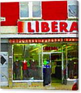 Magazin Liberal Dress Shop On Rue Notre Dame Montreal St.henri City Scenes Carole Spandau Canvas Print
