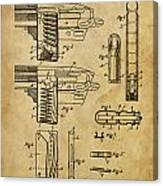 Magazine For Firearms - Patented On 1908 Canvas Print