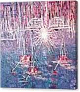 Belmont Turn Magenta Chicago Canvas Print